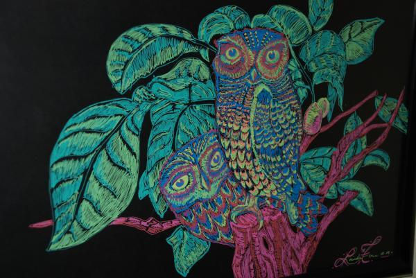 Night Owls Print by Lorinda Fore