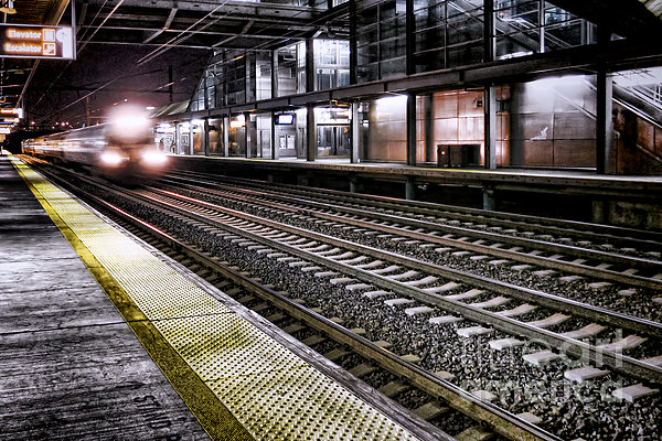 Night Train Print by Olivier Le Queinec