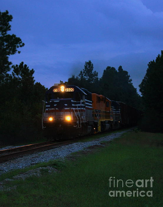 Night Train Print by Paul  Wilford