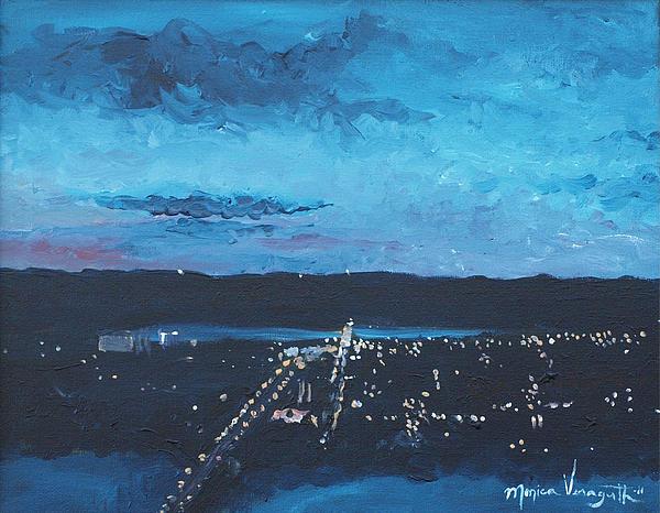 Nightfall At Garvin Print by Monica Veraguth
