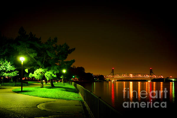 Nightime Promenade Print by Olivier Le Queinec