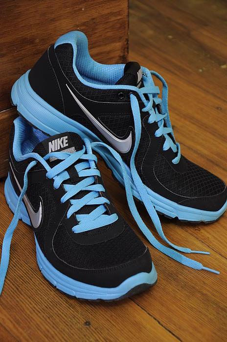 Nike Shoes Print by Nicole Berna