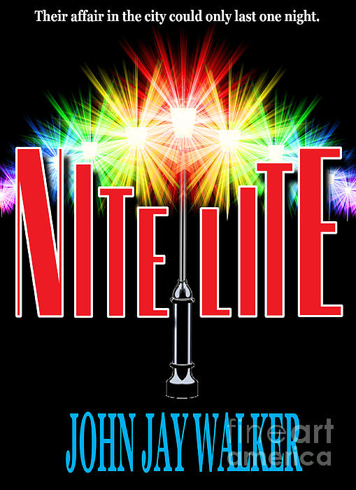 Nite Lite Book Cover Print by Mike Nellums