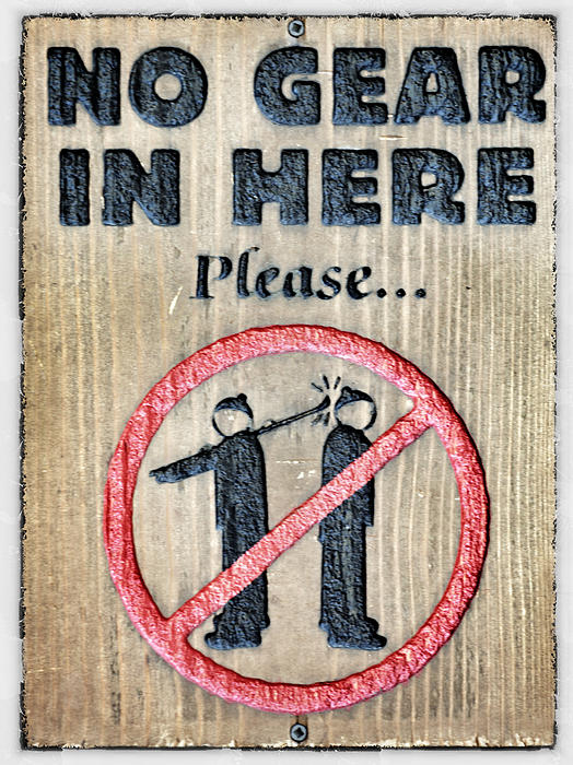 No Gear In Here Print by Jim Nelson