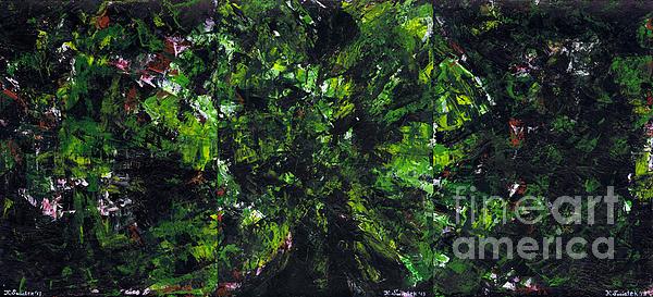 No Leaf Clover - Triptych  Print by Kamil Swiatek