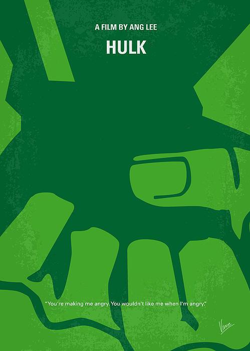 No040 My Hulk Minimal Movie Poster Print by Chungkong Art