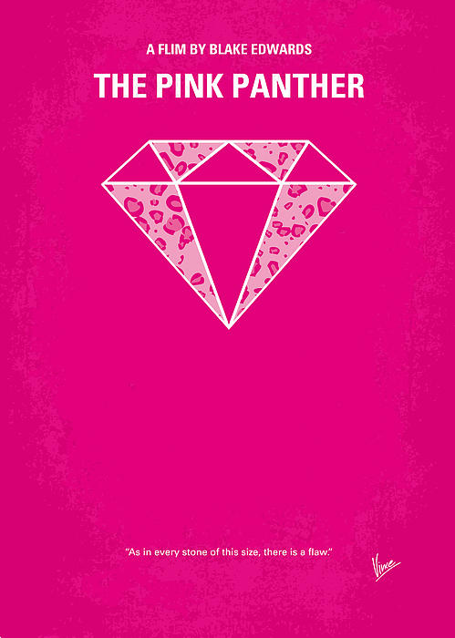 No063 My Pink Panther Minimal Movie Poster Print by Chungkong Art