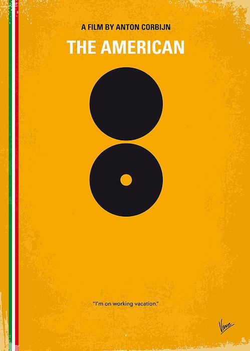 No088 My The American Minimal Movie Poster Print by Chungkong Art