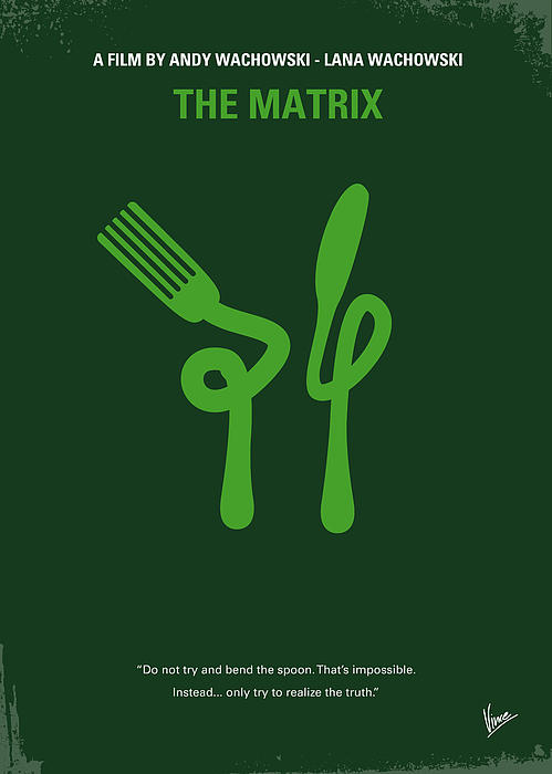 No093 My The Matrix Minimal Movie Poster Print by Chungkong Art