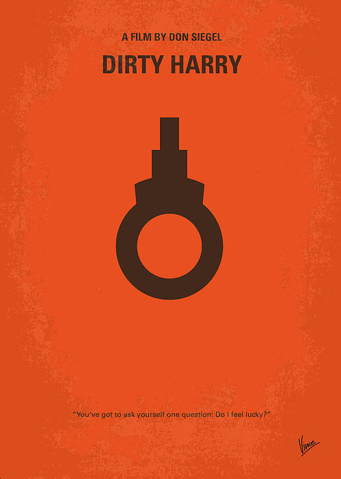 No105 My Dirty Harry Movie Poster Print by Chungkong Art