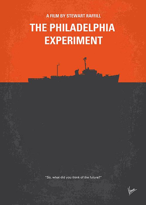 No126 My The Philadelphia Experiment Minimal Movie Poster Print by Chungkong Art