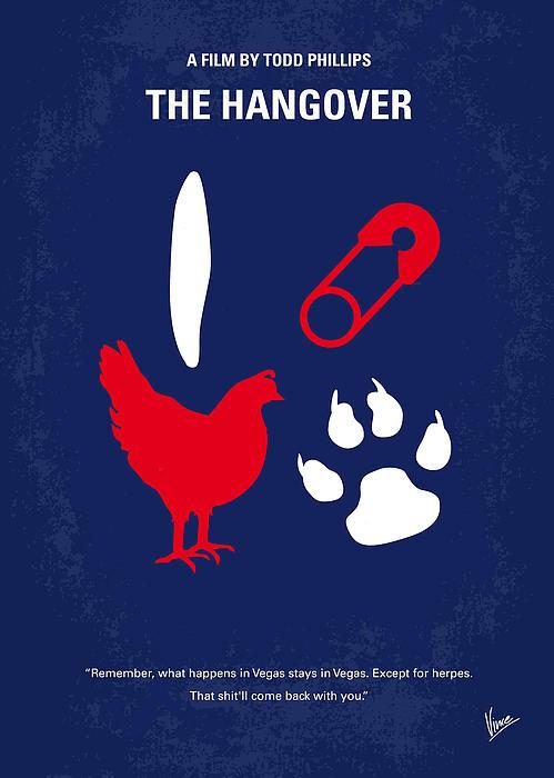 No145 My The Hangover Minimal Movie Poster Print by Chungkong Art