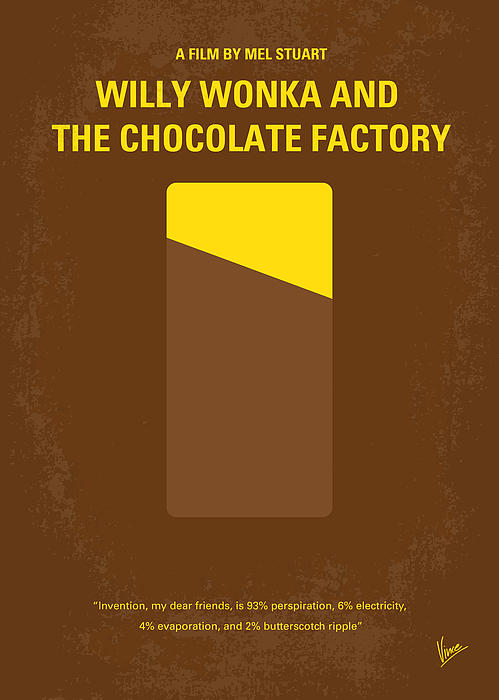 No149 My Willy Wonka And The Chocolate Factory Minimal Movie Poster Print by Chungkong Art
