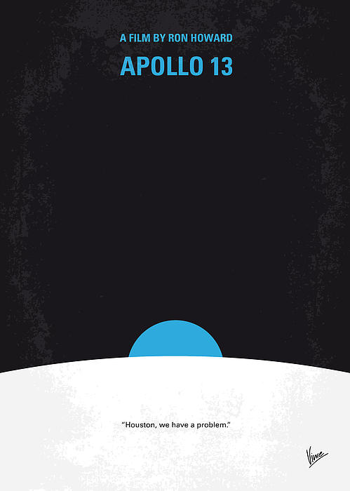 No151 My Apollo 13 Minimal Movie Poster Print by Chungkong Art