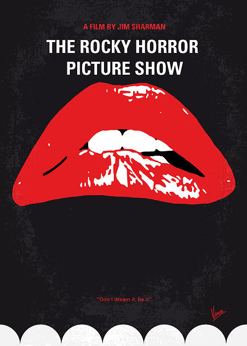 No153 My The Rocky Horror Picture Show Minimal Movie Poster Print by Chungkong Art