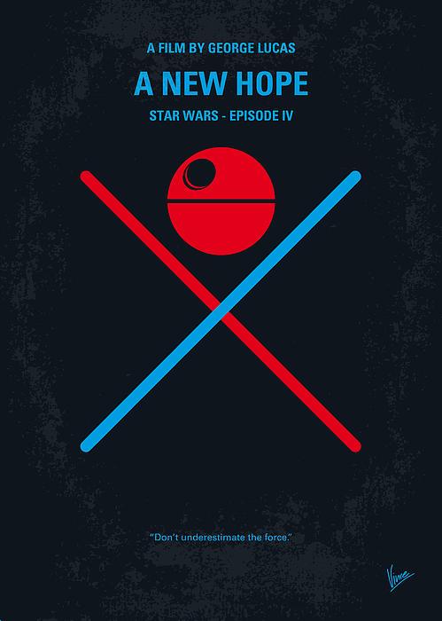No154 My Star Wars Episode Iv A New Hope Minimal Movie Poster Print by Chungkong Art