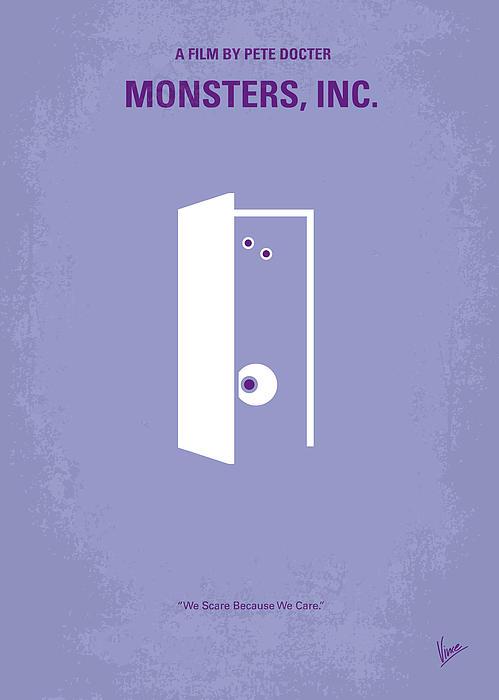 No161 My Monster Inc Minimal Movie Poster Print by Chungkong Art