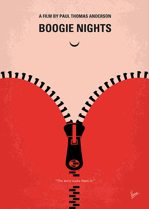 No167 My Boogie Nights Minimal Movie Poster Print by Chungkong Art