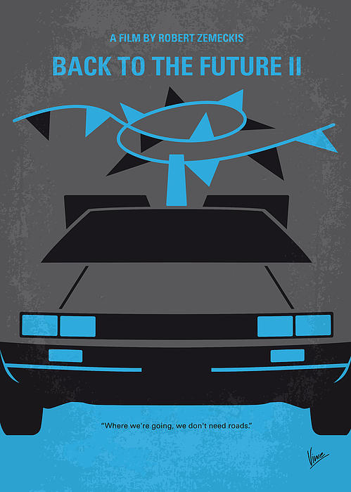 No183 My Back To The Future Minimal Movie Poster Part Ii