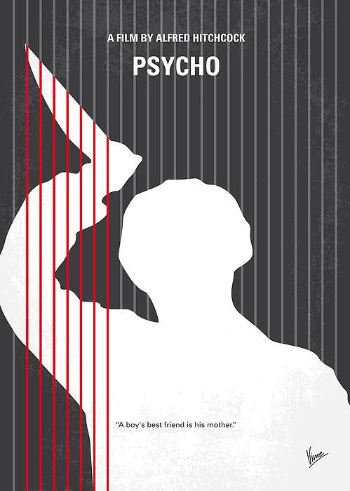 No185 My Psycho Minimal Movie Poster Print by Chungkong Art