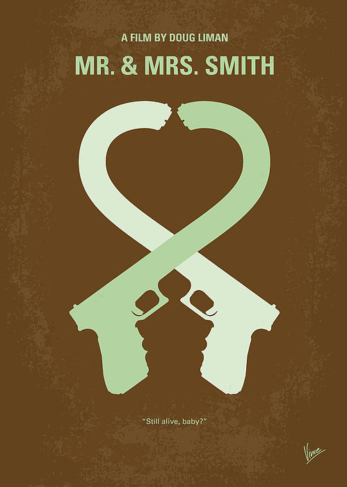 No187 My Mr And Mrs. Smith Minimal Movie Poster Print by Chungkong Art