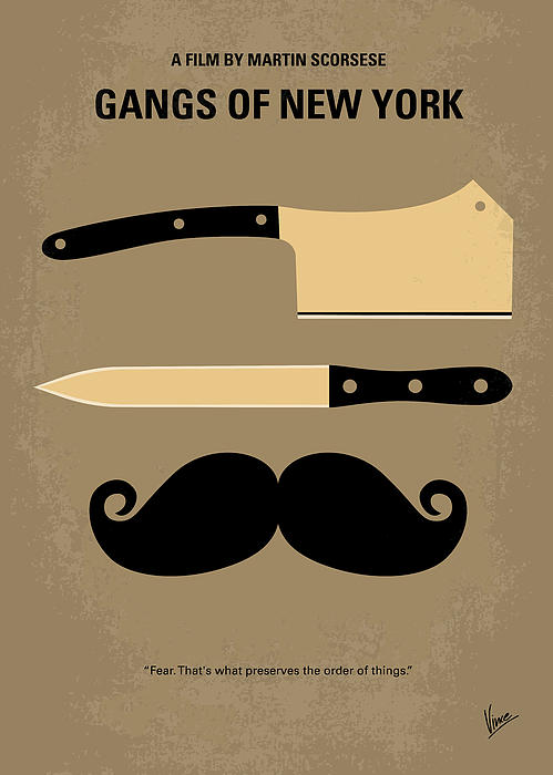 No195 My Gangs Of New York Minimal Movie Poster Print by Chungkong Art