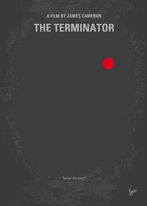 No199 My Terminator Minimal Movie Poster Print by Chungkong Art