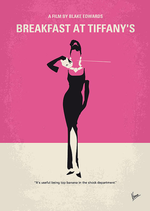 No204 My Breakfast At Tiffanys Minimal Movie Poster Print by Chungkong Art