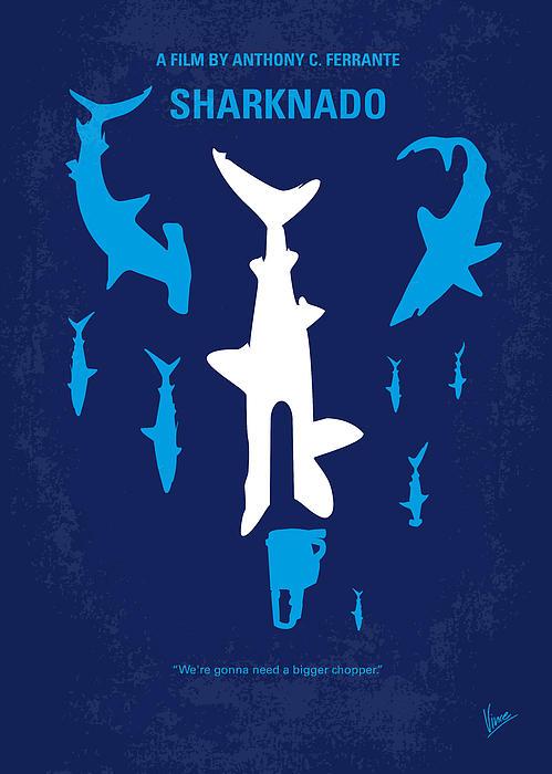 No216 My Sharknado Minimal Movie Poster Print by Chungkong Art