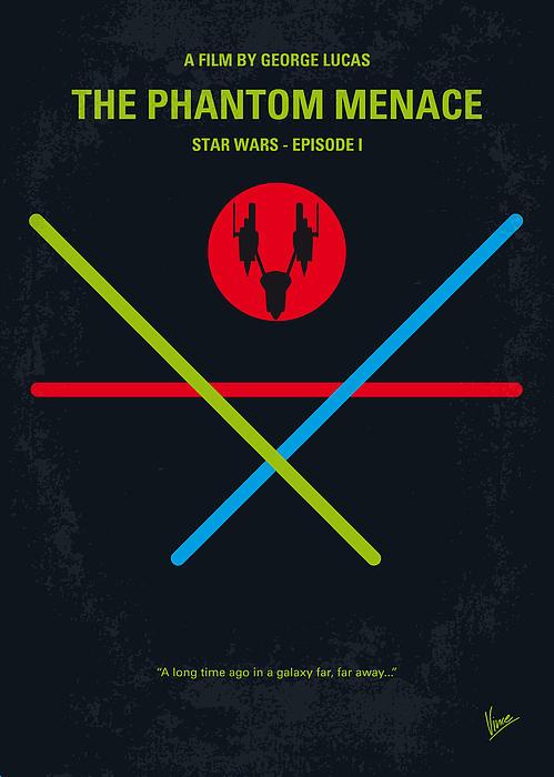 No223 My Star Wars Episode I The Phantom Menace Minimal Movie Poster Print by Chungkong Art