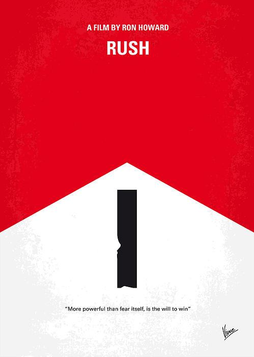 No228 My Rush Minimal Movie Poster Print by Chungkong Art