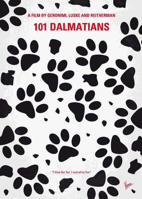 No229 My 101 Dalmatians Minimal Movie Poster Print by Chungkong Art