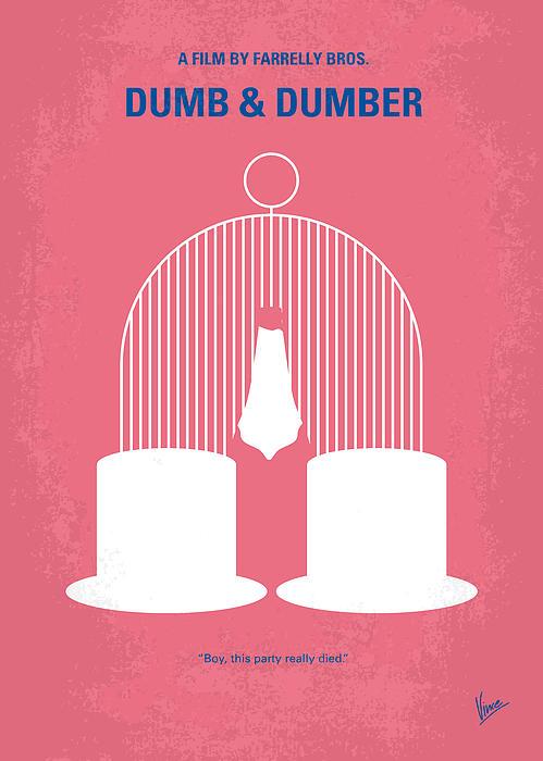 No241 My Dumb And Dumber Minimal Movie Poster Print by Chungkong Art