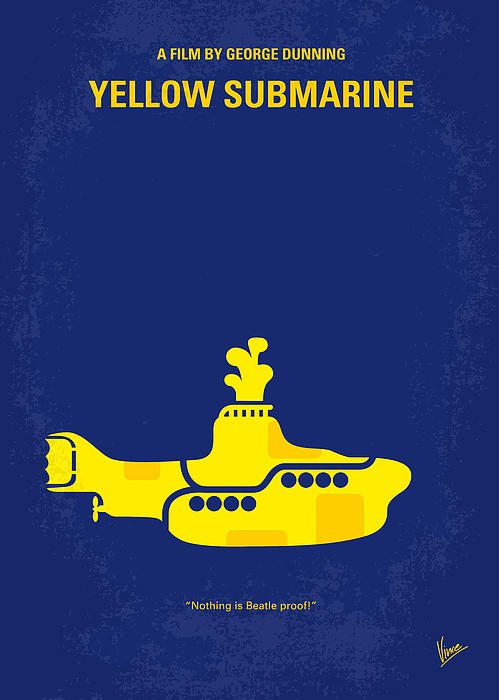 No257 My Yellow Submarine Minimal Movie Poster Print by Chungkong Art