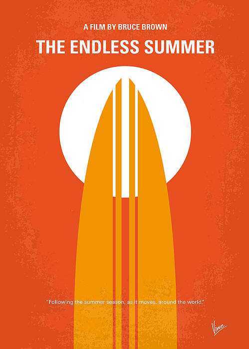 No274 My The Endless Summer Minimal Movie Poster Print by Chungkong Art