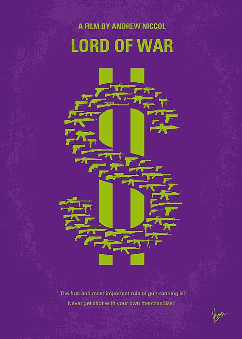 No281 My Lord Of War Minimal Movie Poster Print by Chungkong Art