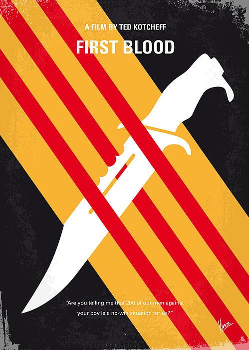 No288 My Rambo First Blood Minimal Movie Poster Print by Chungkong Art