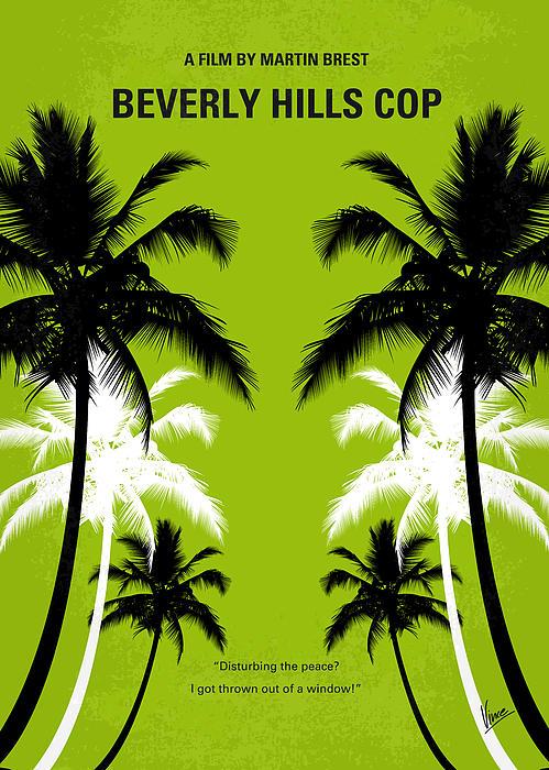 No294 My Beverly Hills Cop Minimal Movie Poster Print by Chungkong Art