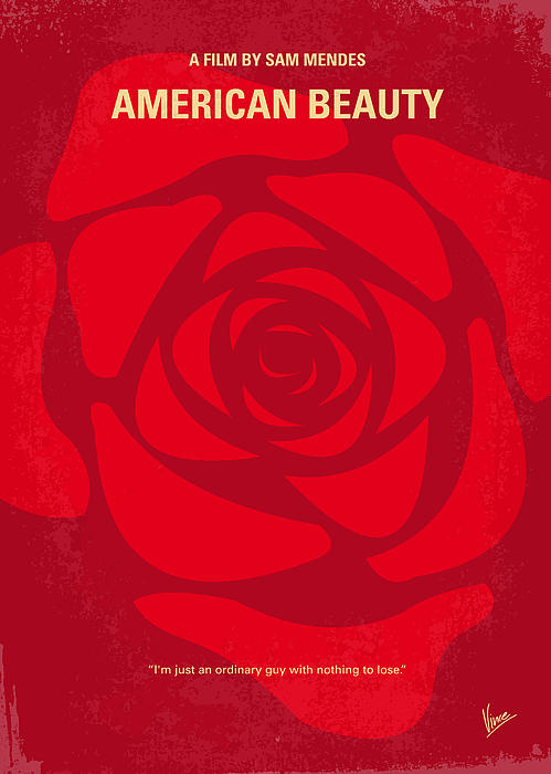No313 My American Beauty Minimal Movie Poster Print by Chungkong Art