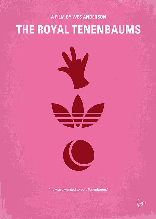 No320 My The Royal Tenenbaums Minimal Movie Poster Print by Chungkong Art