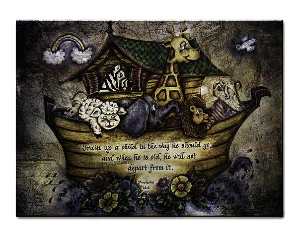 Noah's Ark Print by La Rae  Roberts