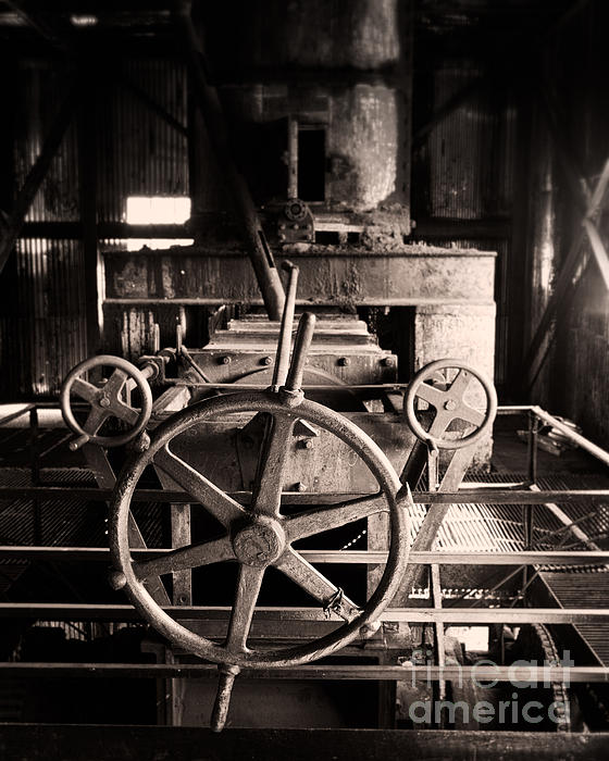 Nobody At The Wheel Print by Royce Howland