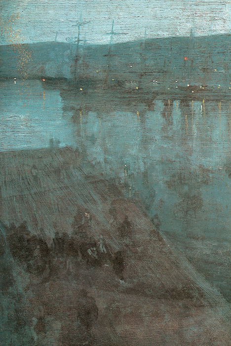 Nocturne In Blue And Gold Valparaiso Print by James Abbott McNeill Whistler