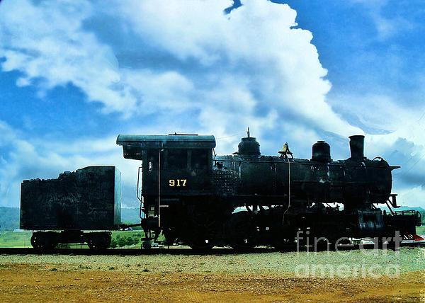 Norfolk Western Steam Locomotive 917 Print by Janette Boyd
