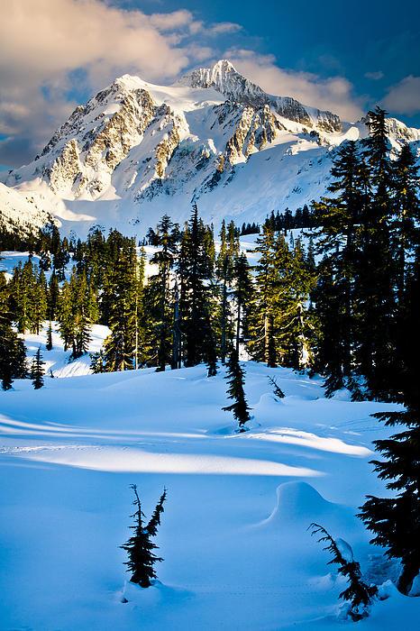 North Cascades Winter Print by Inge Johnsson