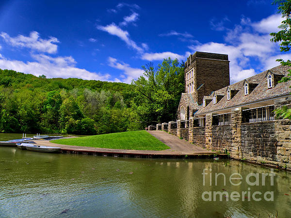 North Park Boathouse In Hdr Print by Amy Cicconi