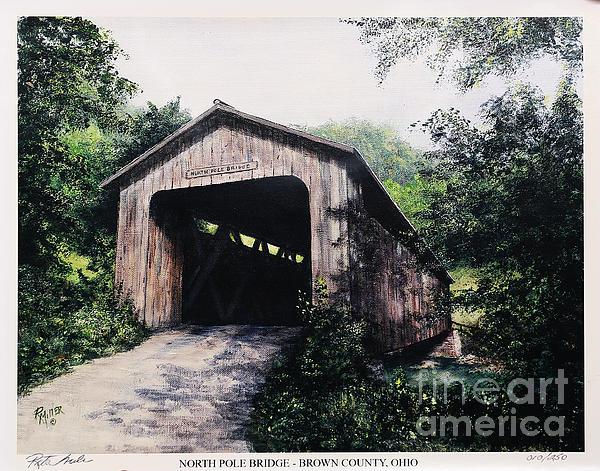 North Pole Covered Bridge Brown County Ohio Print by Rita Miller