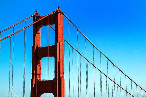 North Tower Golden Gate Print by Garry Gay