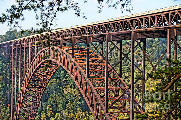 Northeast Close-up Of New River Gorge Bridge Print by Timothy Connard