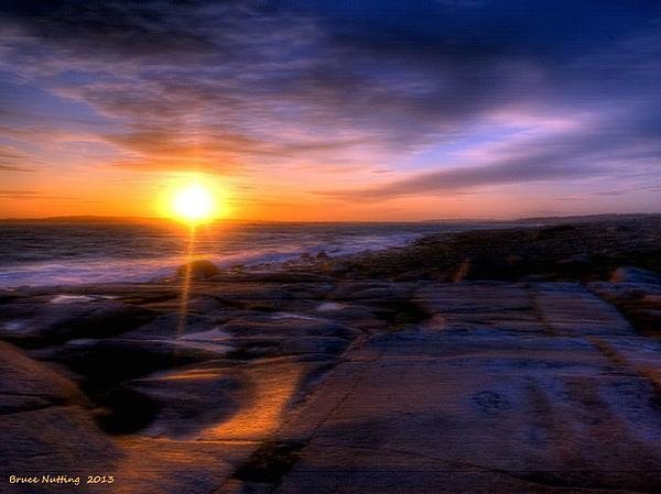 Norwegian Sunset Print by Bruce Nutting